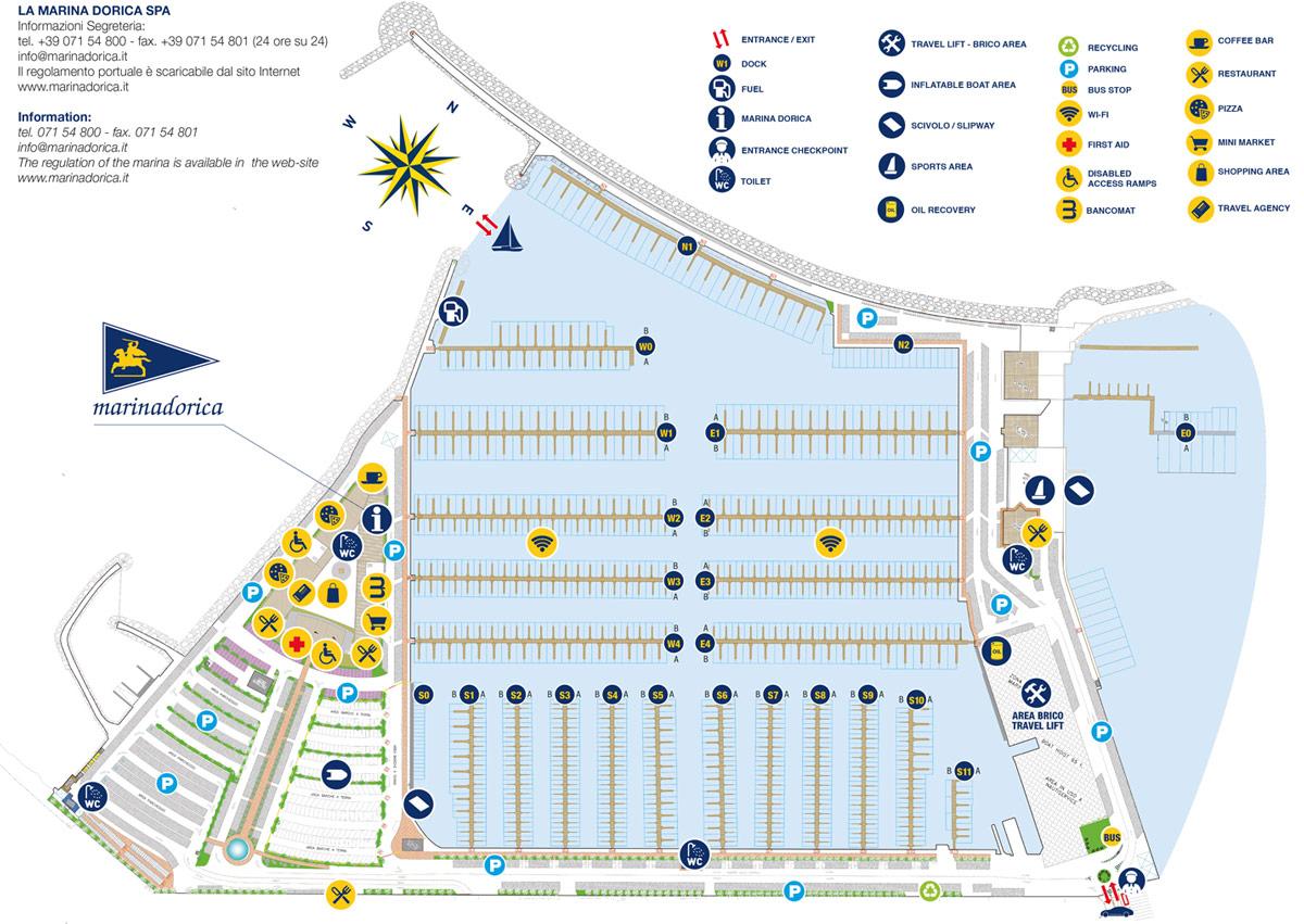 Mappa degli ormeggi e posti barca in affitto marina for Grande planimetria della camera singola storia