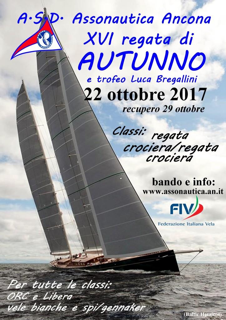 Locandina regata autunno 2017