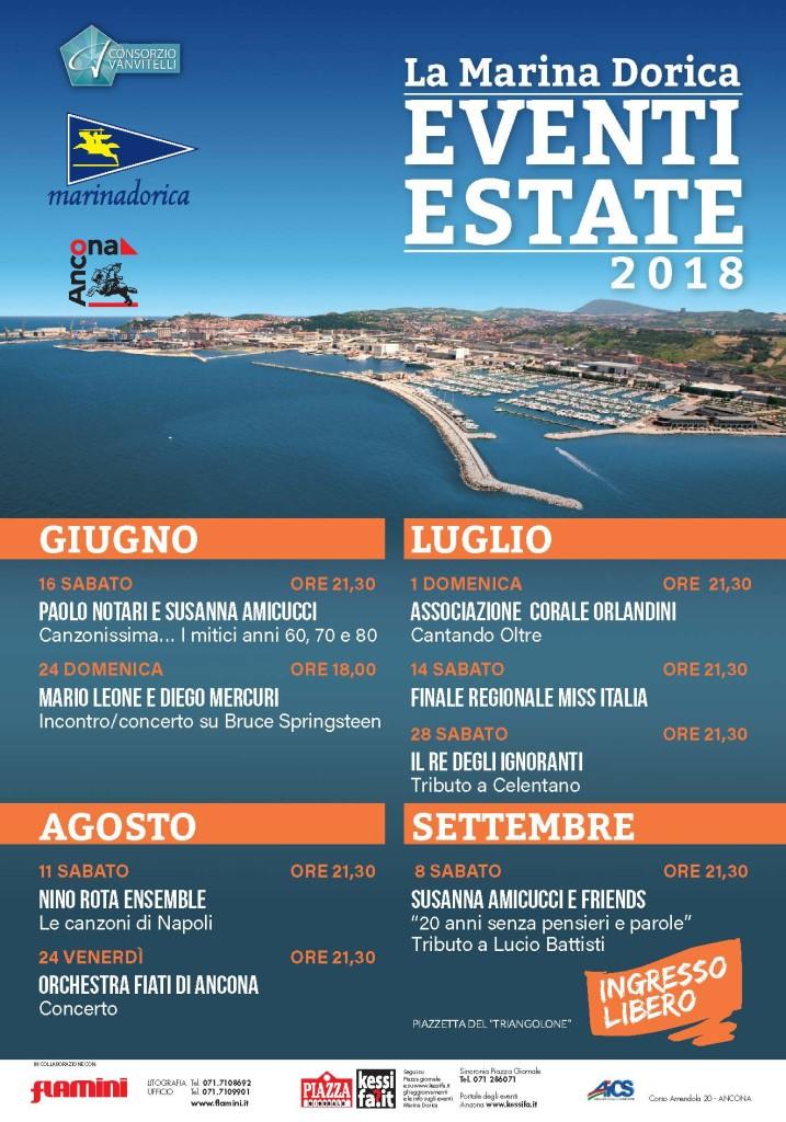 La marina Dorica - Eventi estate Manifesto 2018 ALTA