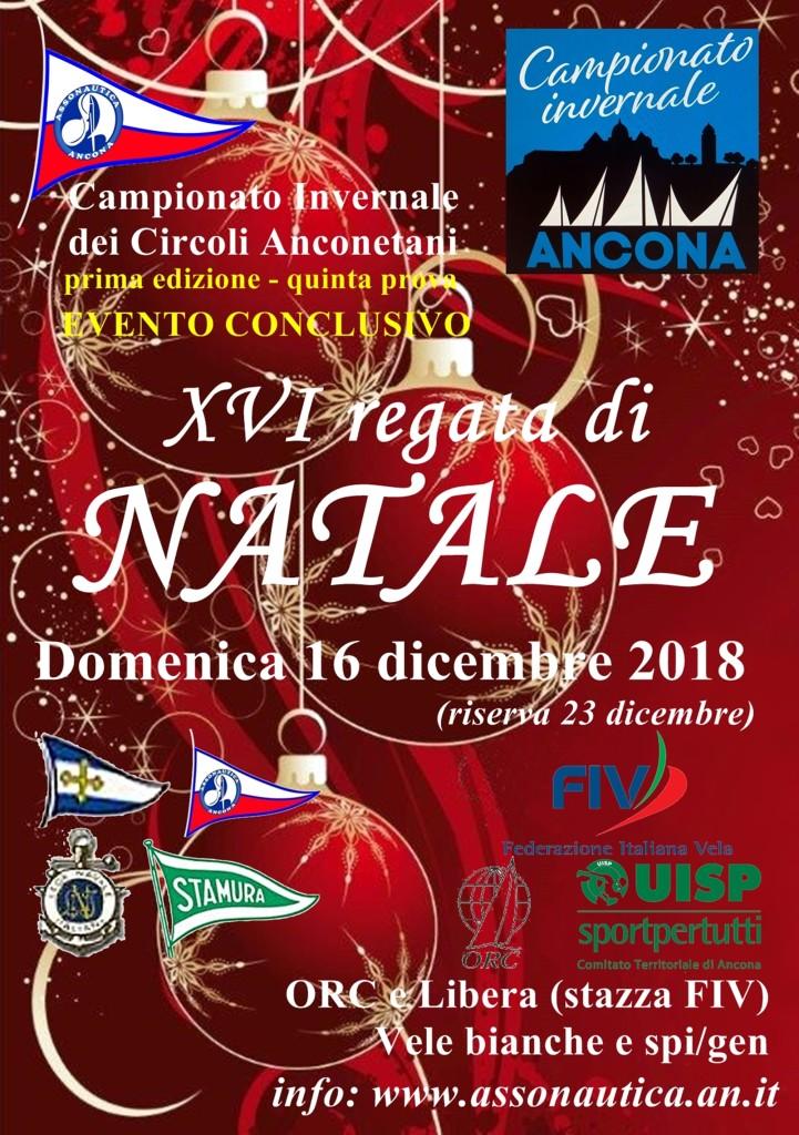 locandina Regata Natale 2018
